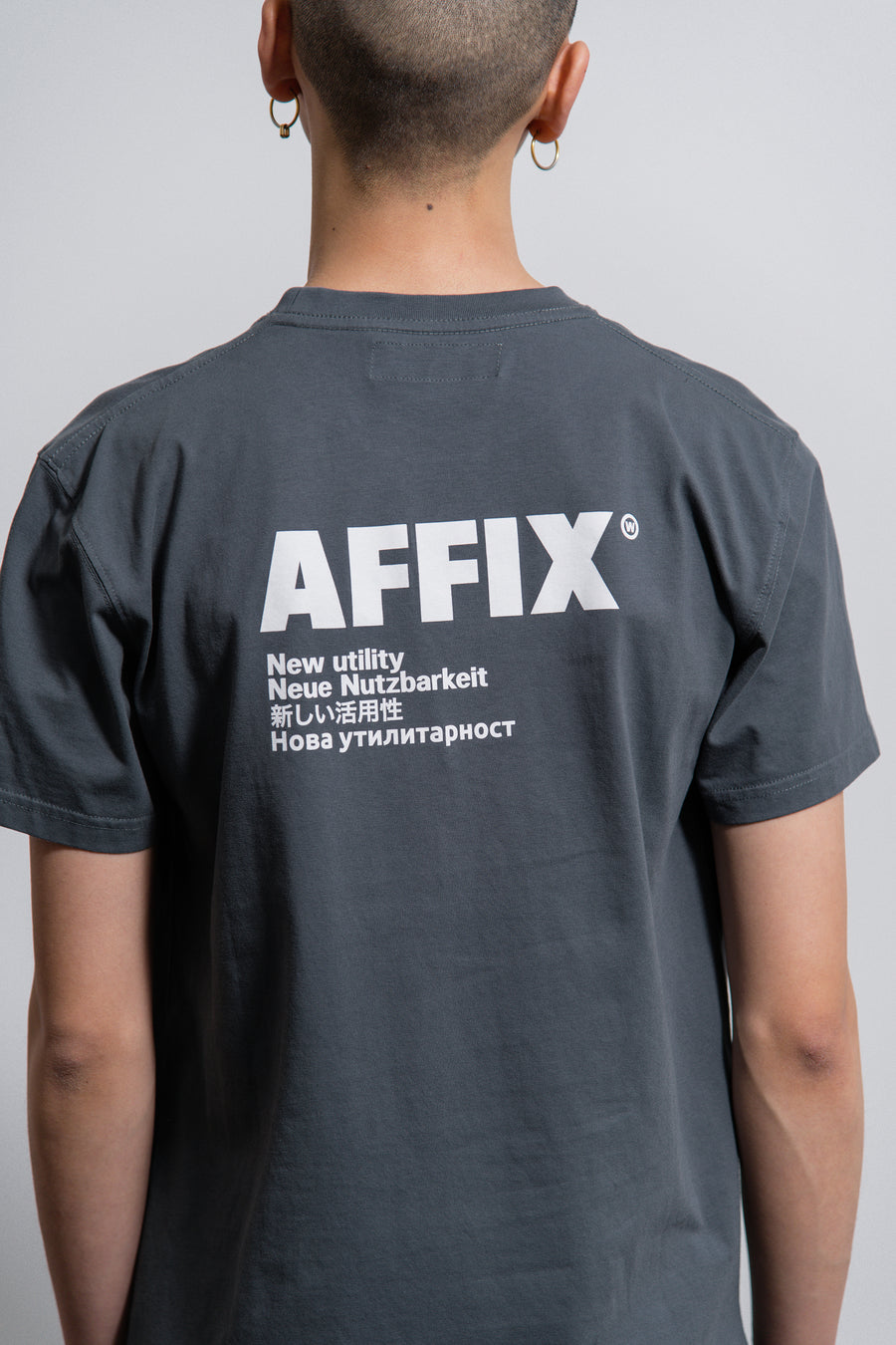 AFFIX S/S Standardise Tee Utility Grey/White