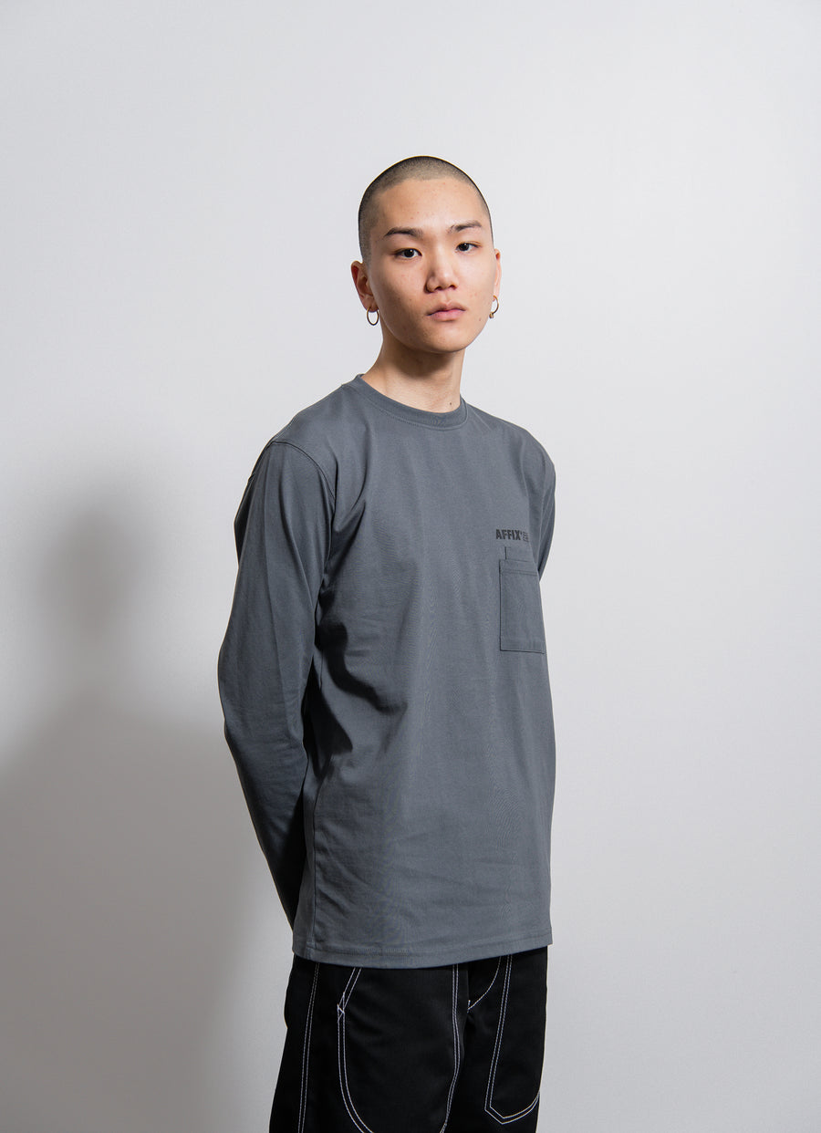 AFFIX L/S Double Chest Pocket Tee Utility Grey