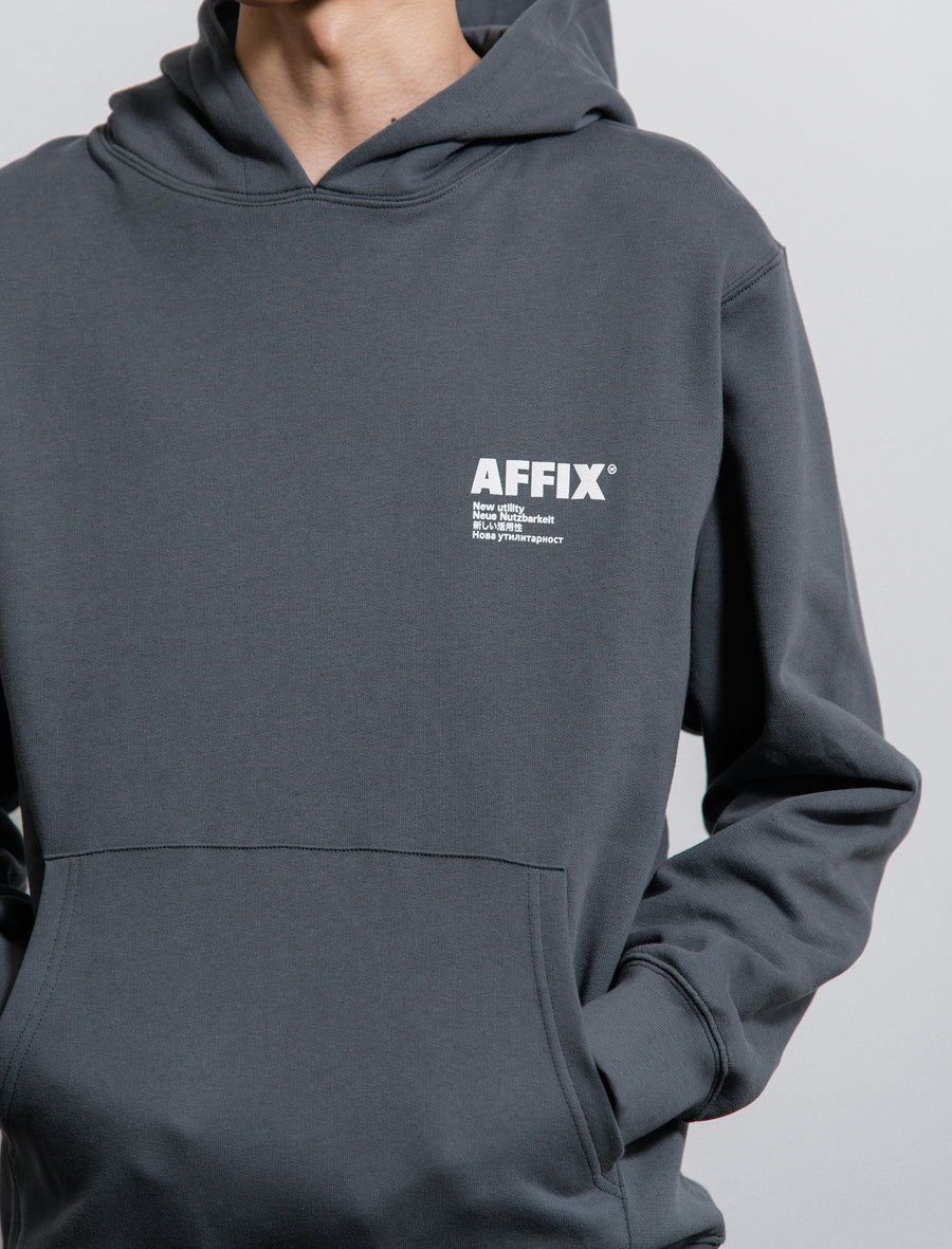 AFFIX Standardise Hoodie Utility Grey/White