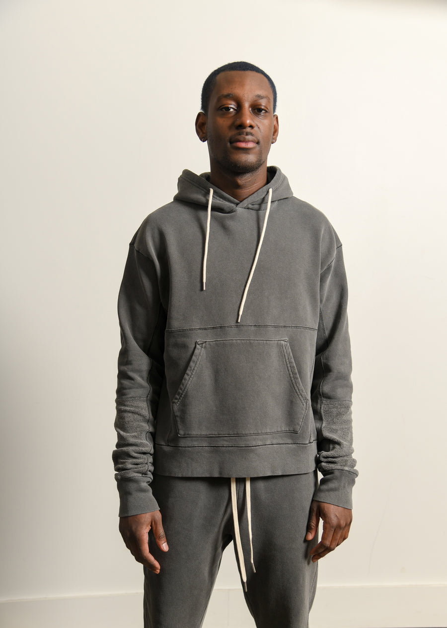 Loose Stitch Beach Hoodie Washed Black