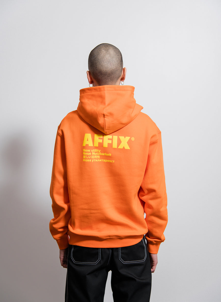 AFFIX Standardise Hoodie Safety Orange/Yellow