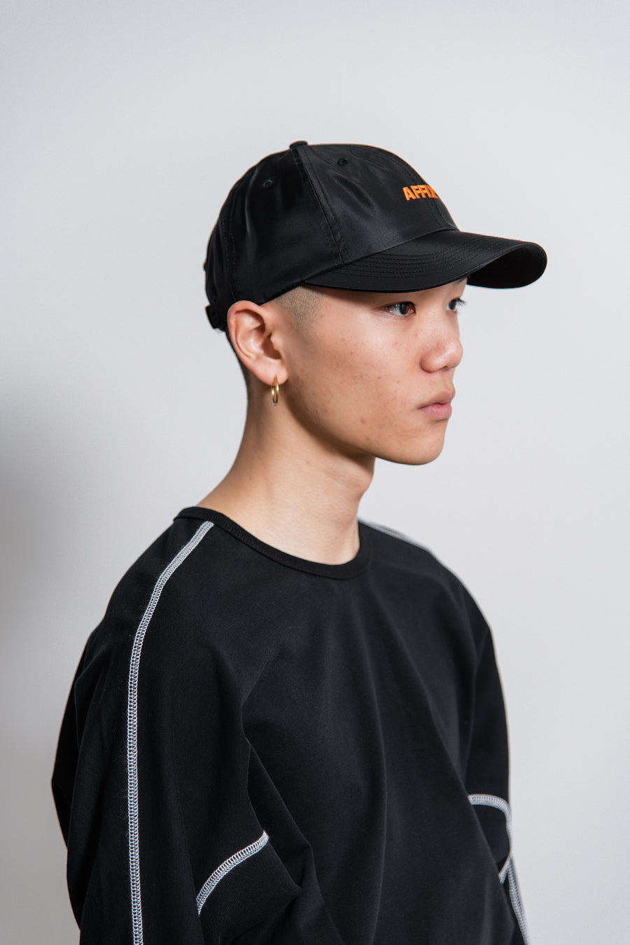 AFFIX Logo Cap Black/Safety Orange