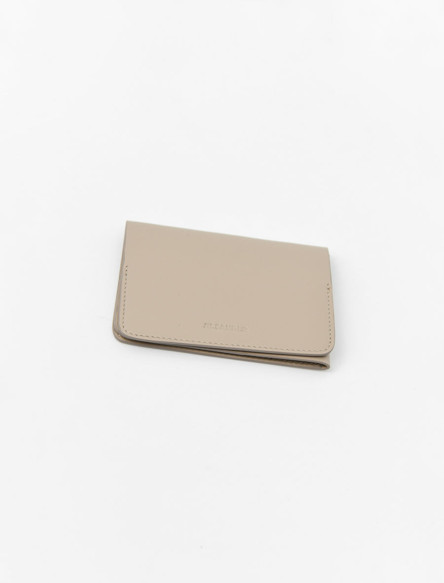 Folded Card Holder Dark Beige