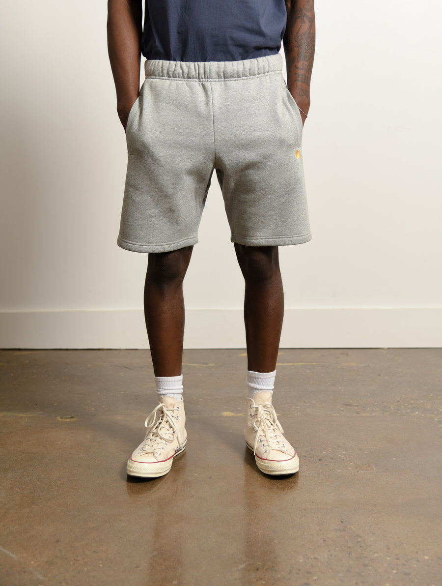 Chase Sweat Short Heather Grey/Gold