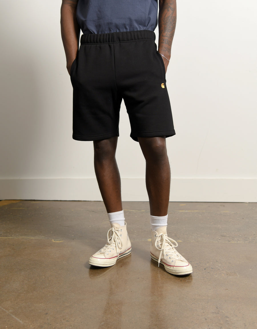 Chase Sweat Short Black/Gold