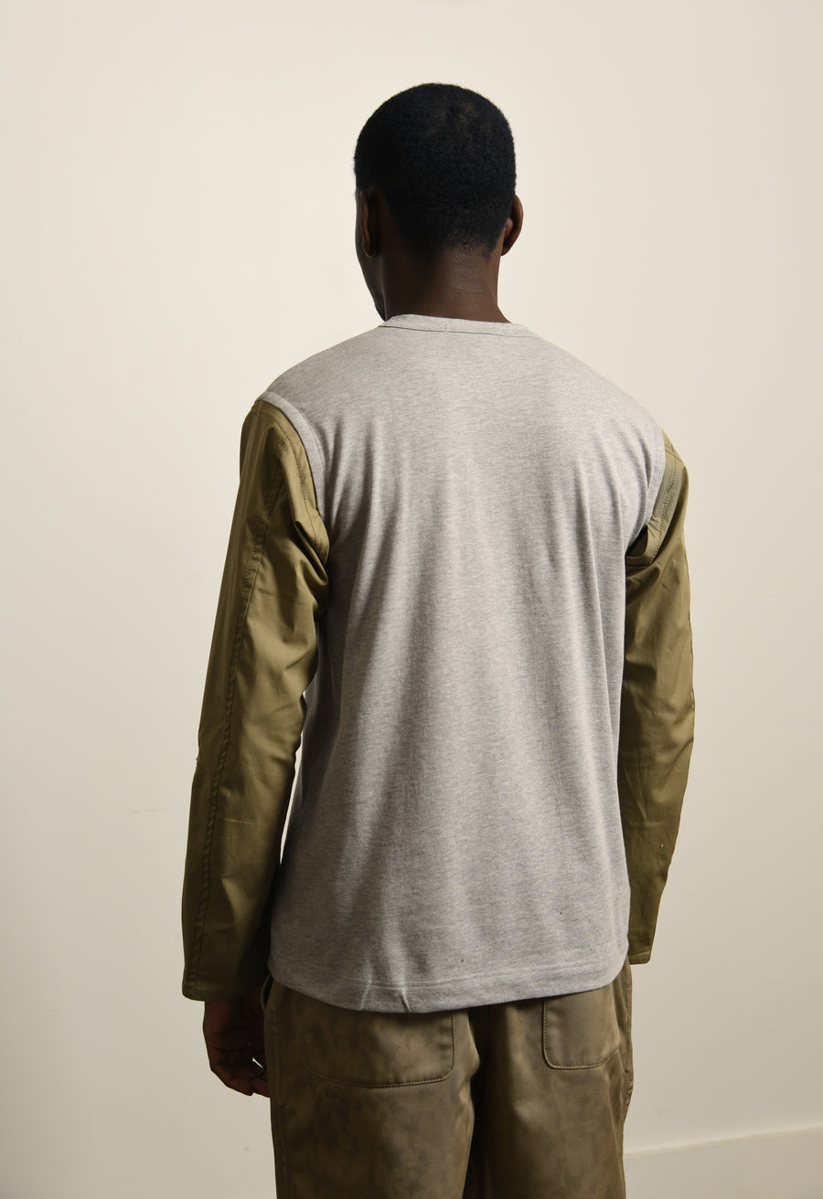 Moto Long Sleeve Tee Grey/Olive