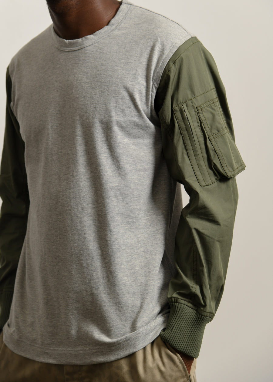 MA-1 Long Sleeve Tee Grey/Olive