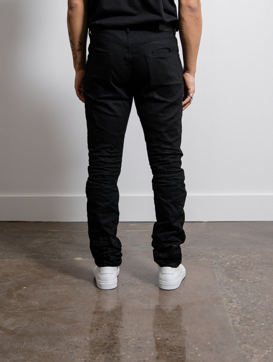 Slim Fit Jeans Black Raw