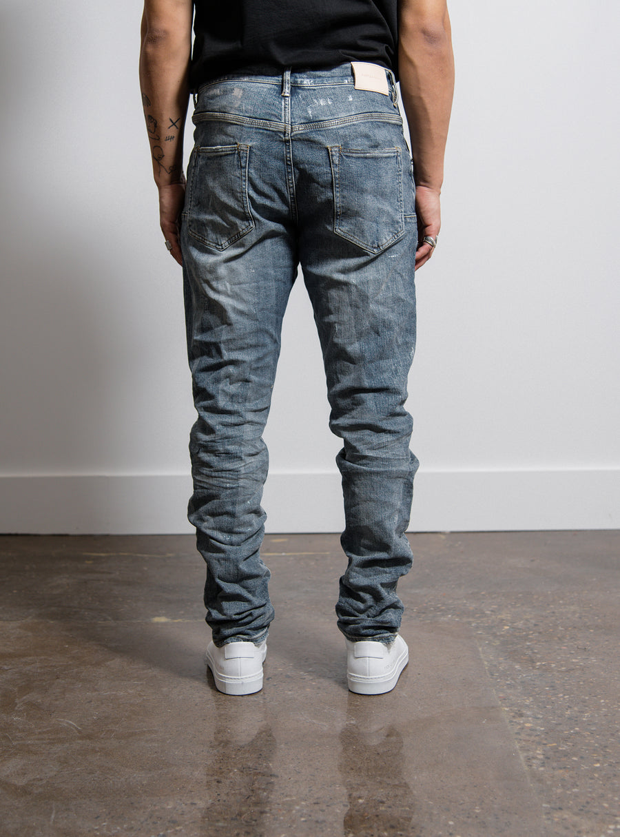 Dropped Fit Jean Laser Streak Metallic
