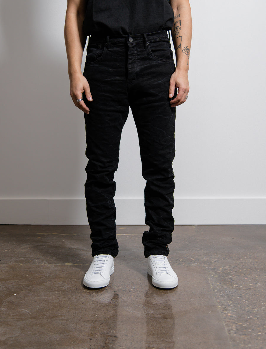 Dropped Fit Jean Black Marble Wash
