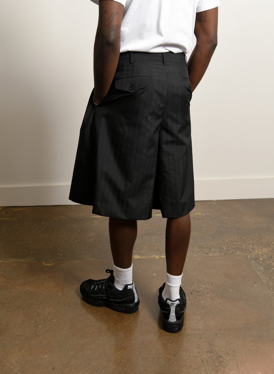 Dobby Stripe Short Black