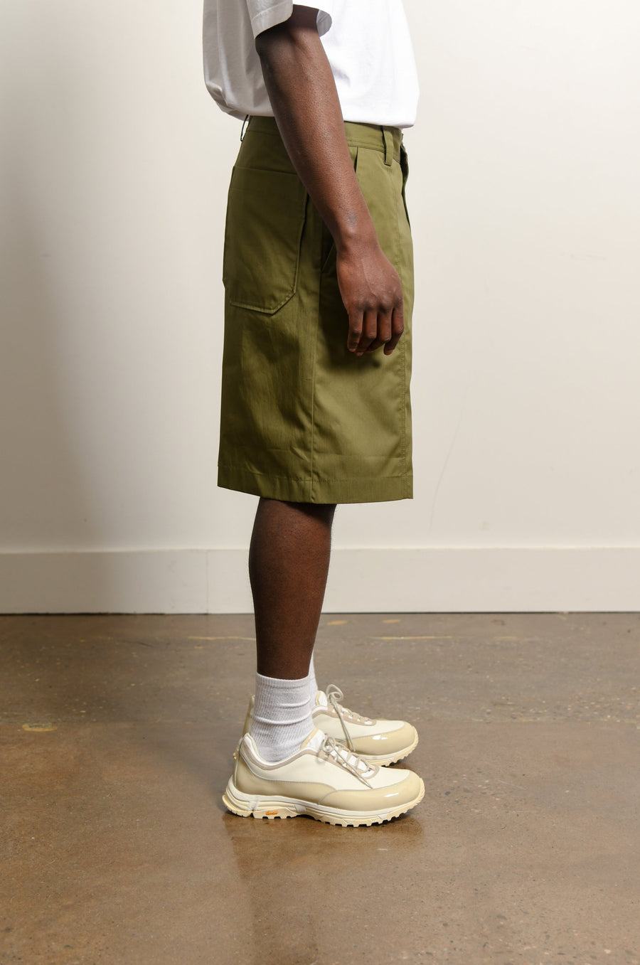 Technical Cotton Twill Short Olive SHOR000027