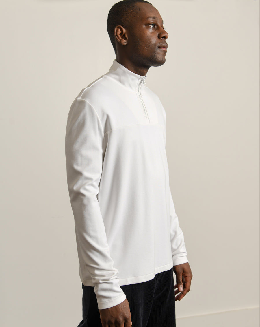 Quarter-Zip Sweater White TSHI000134