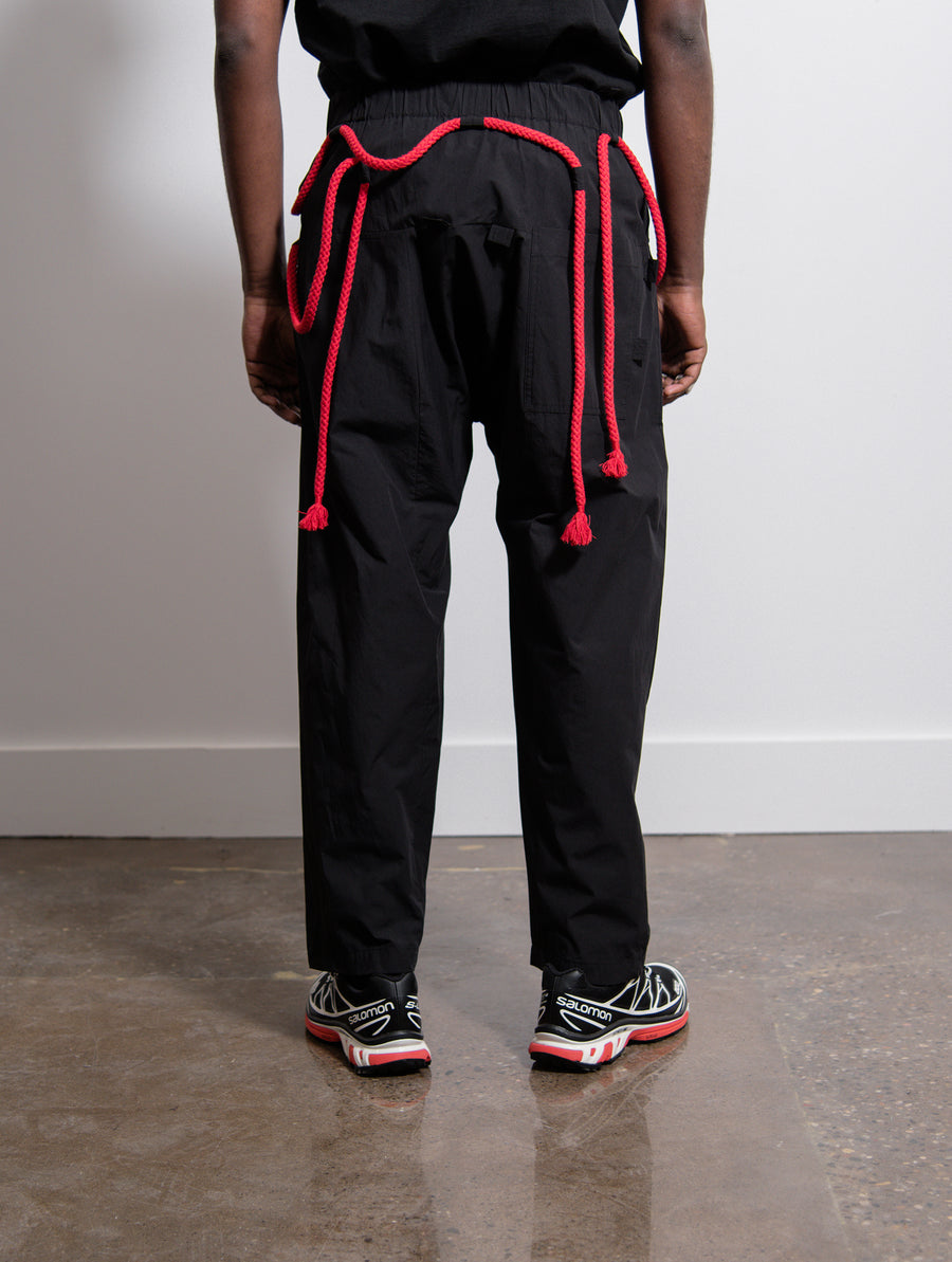 Rope Trouser Black