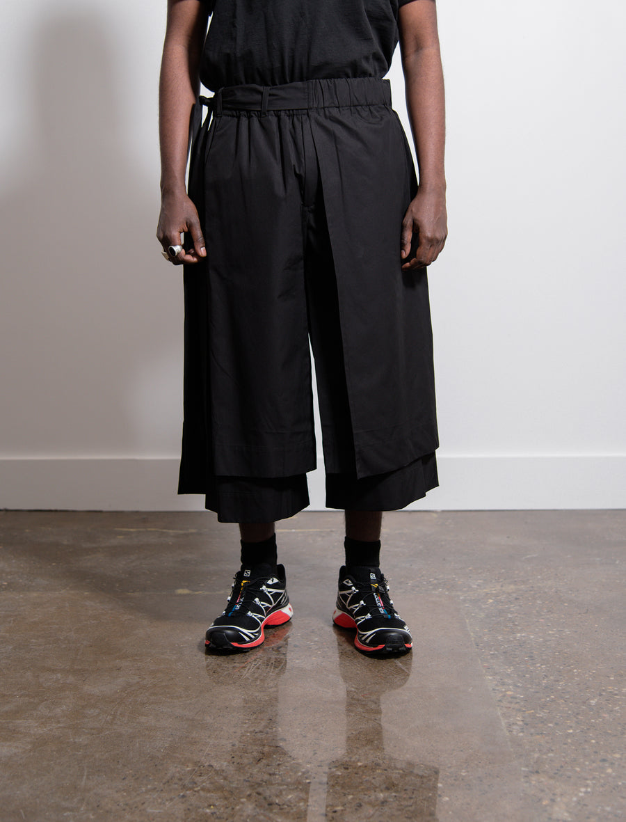 Layered Track Short Black