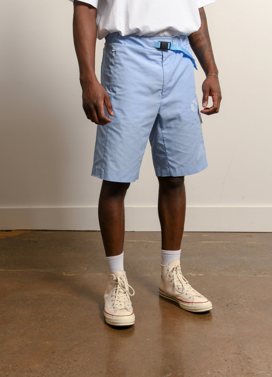Ventilation Chambray Short Light Blue