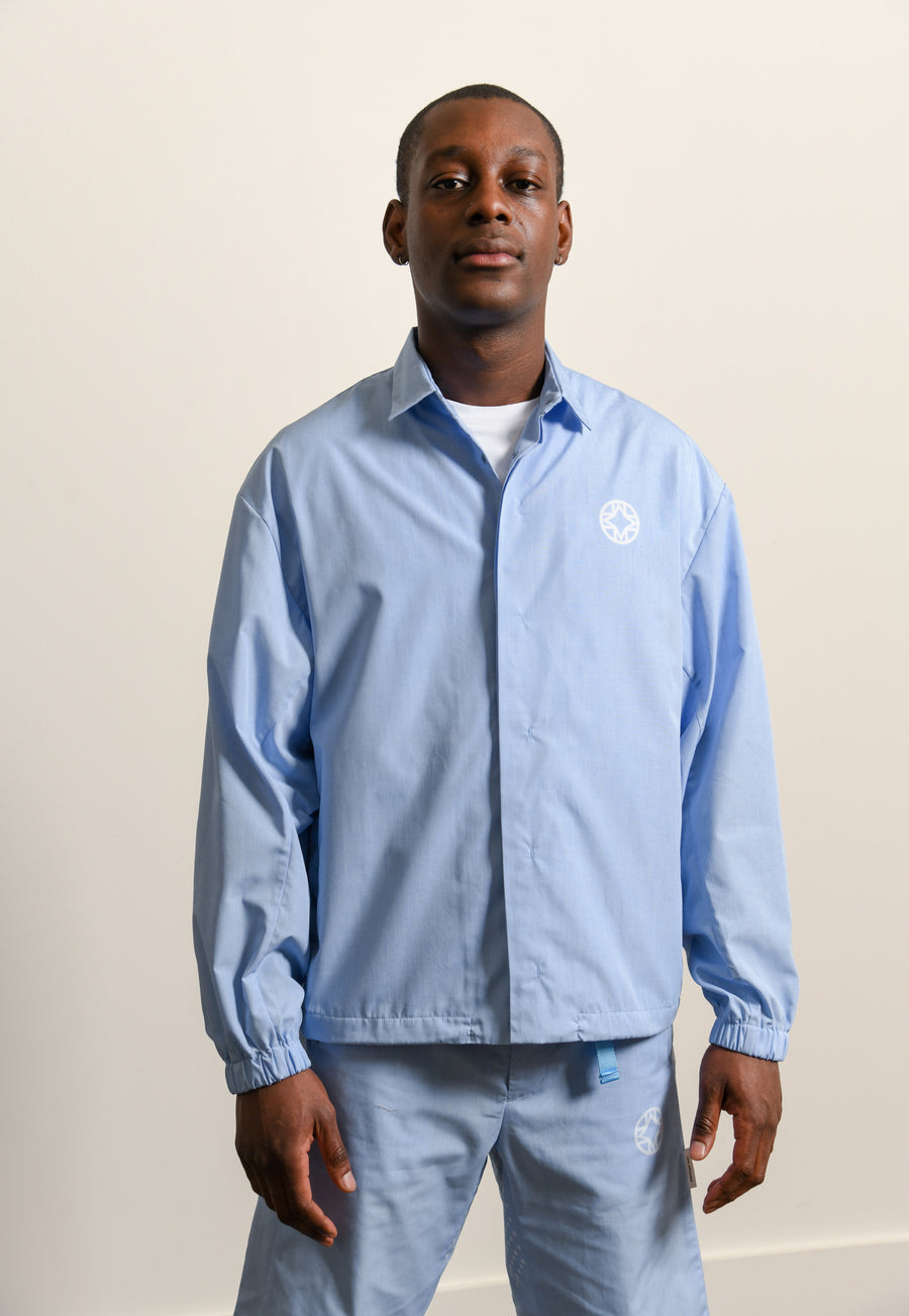 Ventilation Chambray Shirt Light Blue