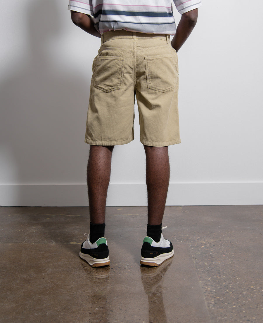 Corduroy 5 Pocket Short Pale Olive