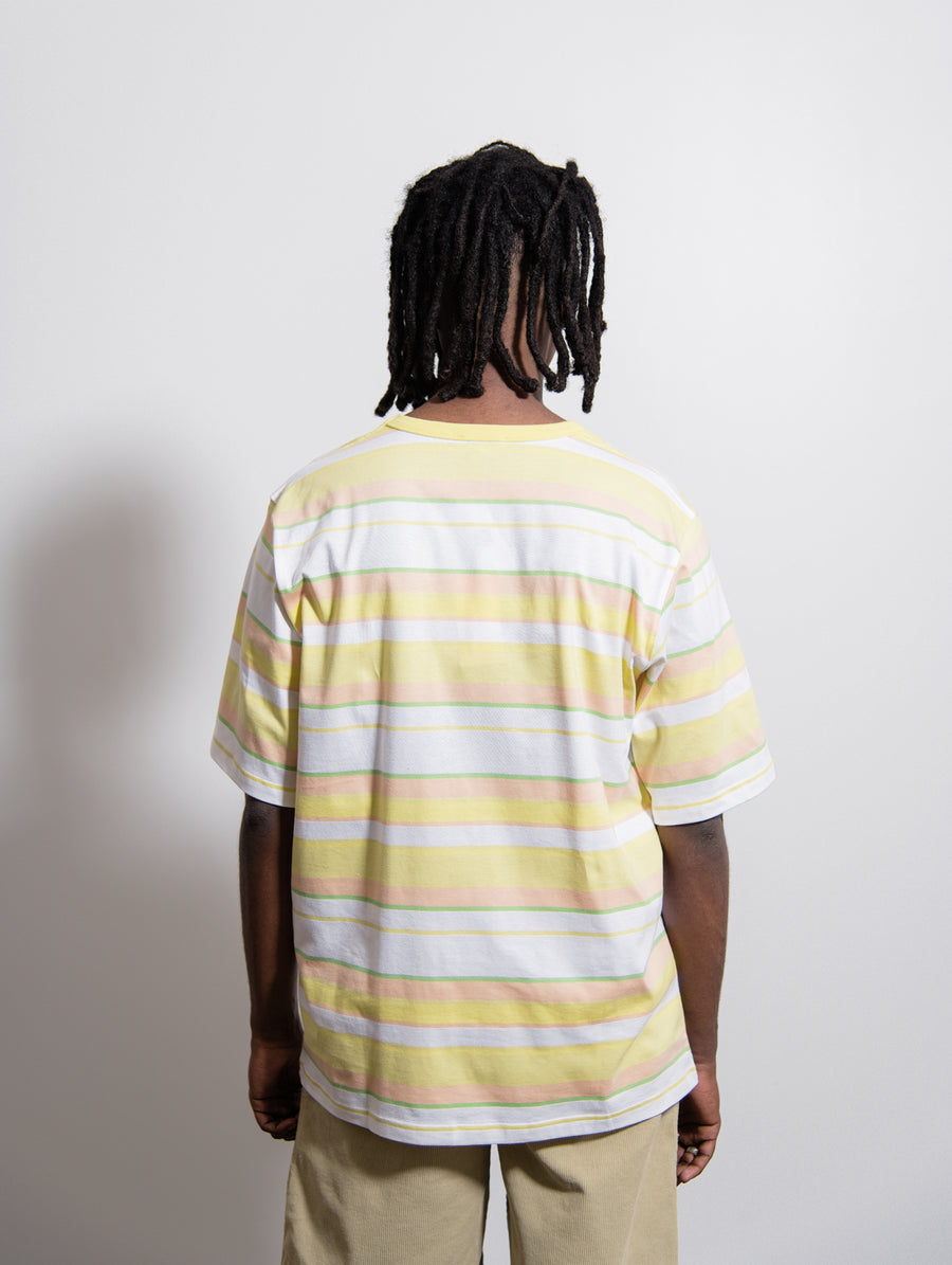 Volume Stripe Tee Lime