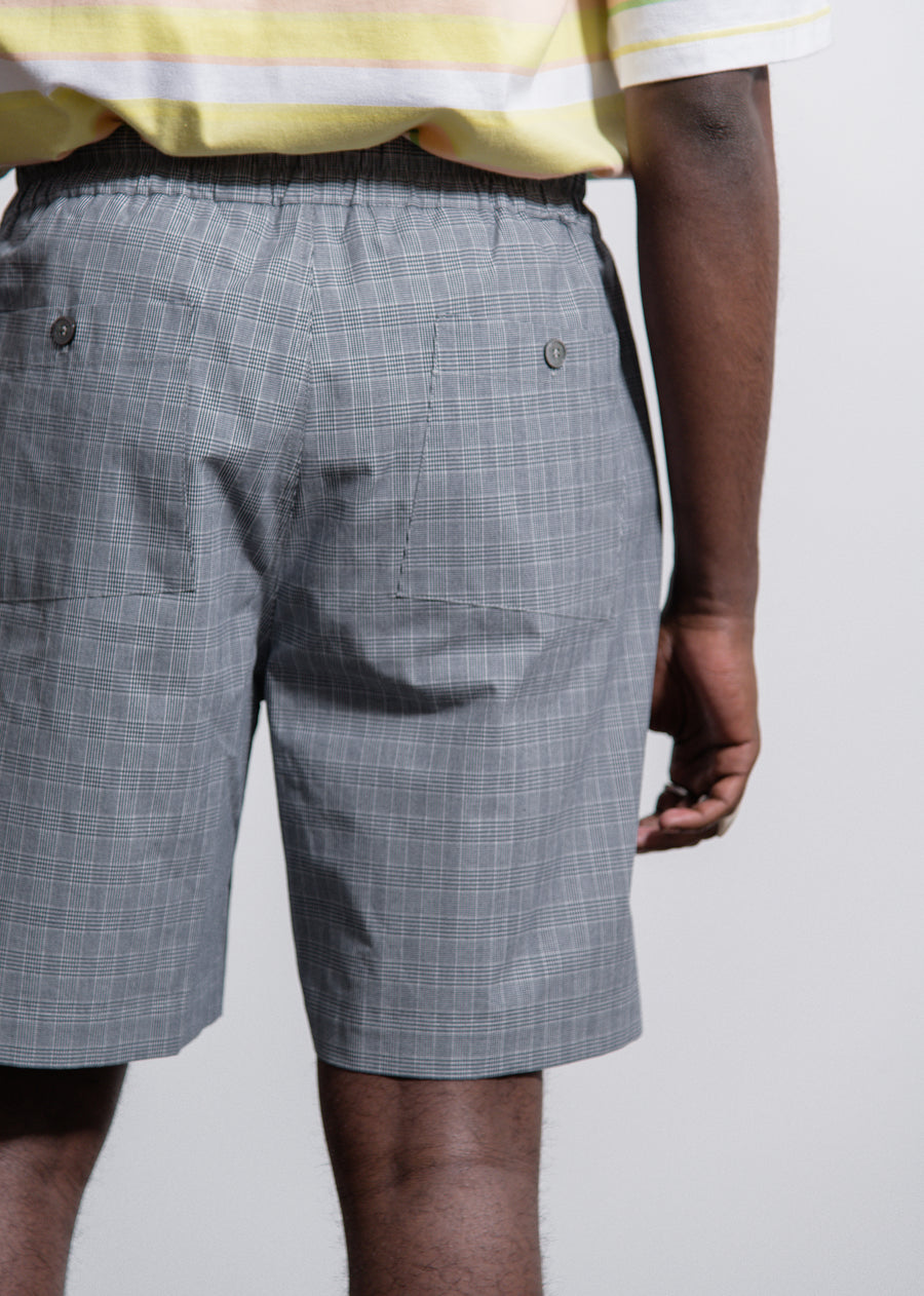 Small Check Sport Short Blue