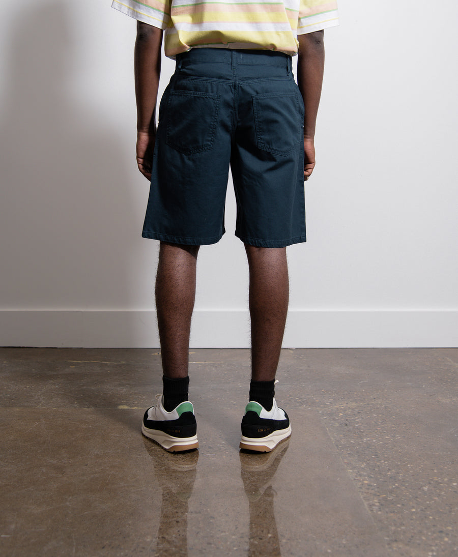 Twill 5 Pocket Short Blue