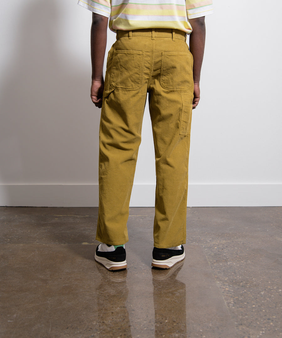 Overdyed Corduroy Carpenter Pant Amber Green
