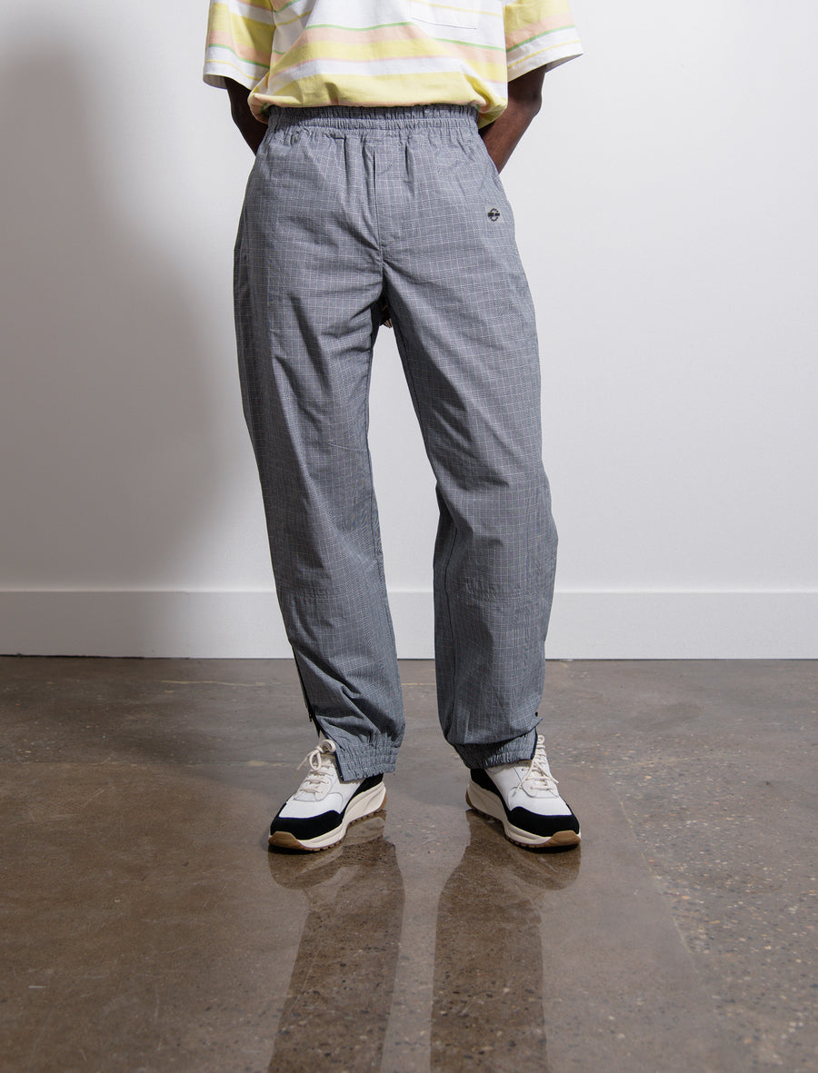 Check Warm-Up Trouser Blue