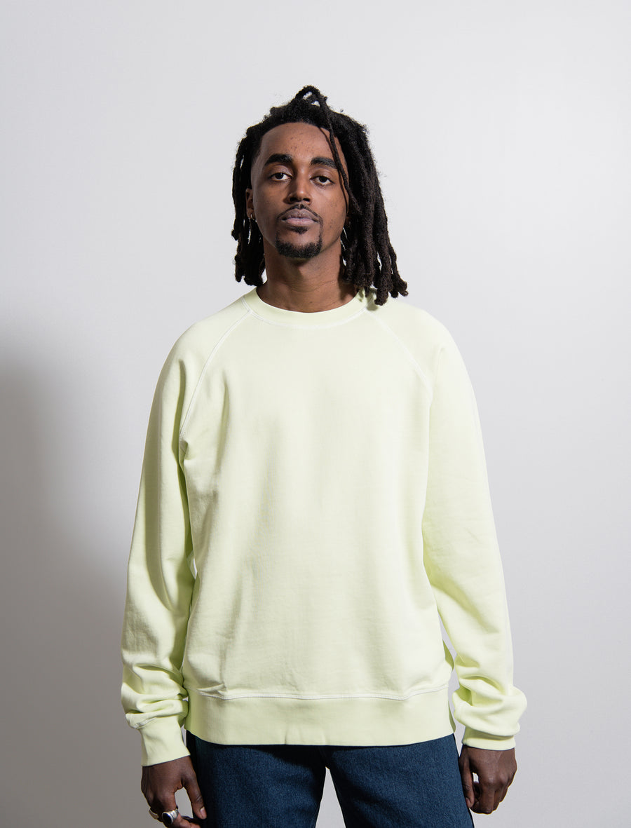 Overdyed Raglan Sweater Luminary Green