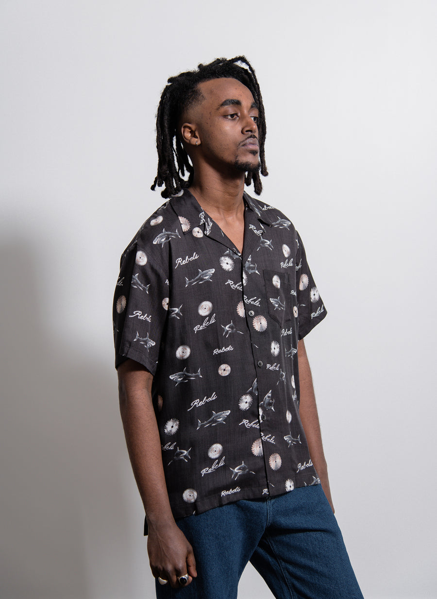 East LA Bowling Shirt Black