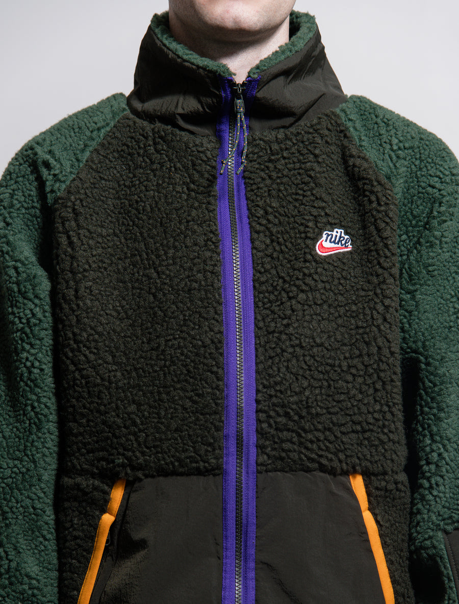 Sherpa Fleece Jacket Sequoia/Galactic Jade/Kumquat BV3720-355