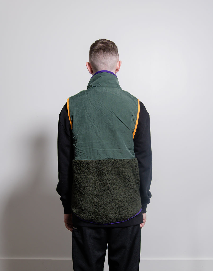 Sherpa Fleece Vest Galactic Jade/Sequoia/Kumquat CD3142-337