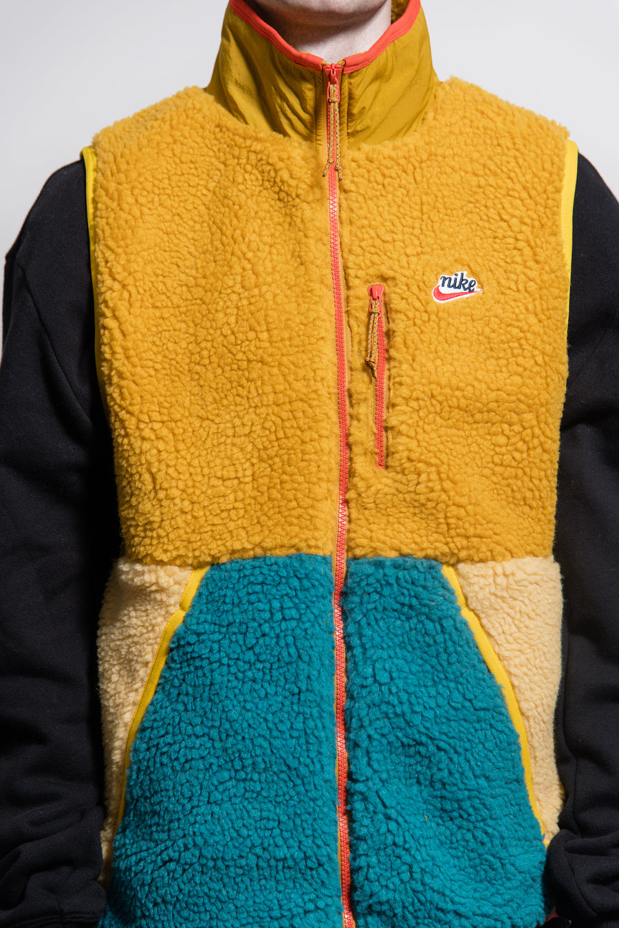 Sherpa Fleece Vest Gold Suede/Club Gold/Geode Teal CD3142-727