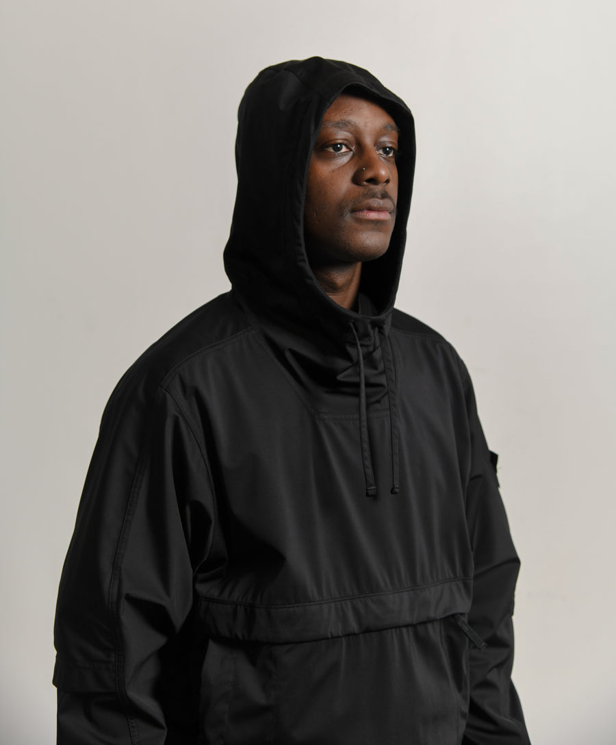 Light Nylon-R Anorak Black