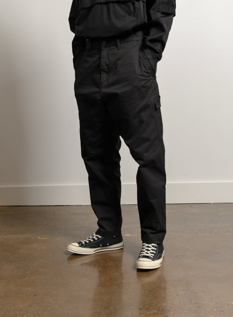 Enzyme Treated Comfort Cotton Gabardine Pant Black