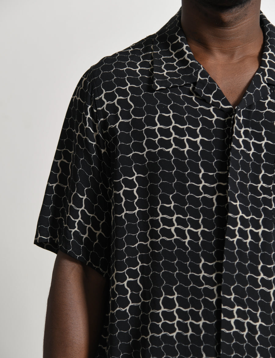 Free Edge Shirt Lattice Black