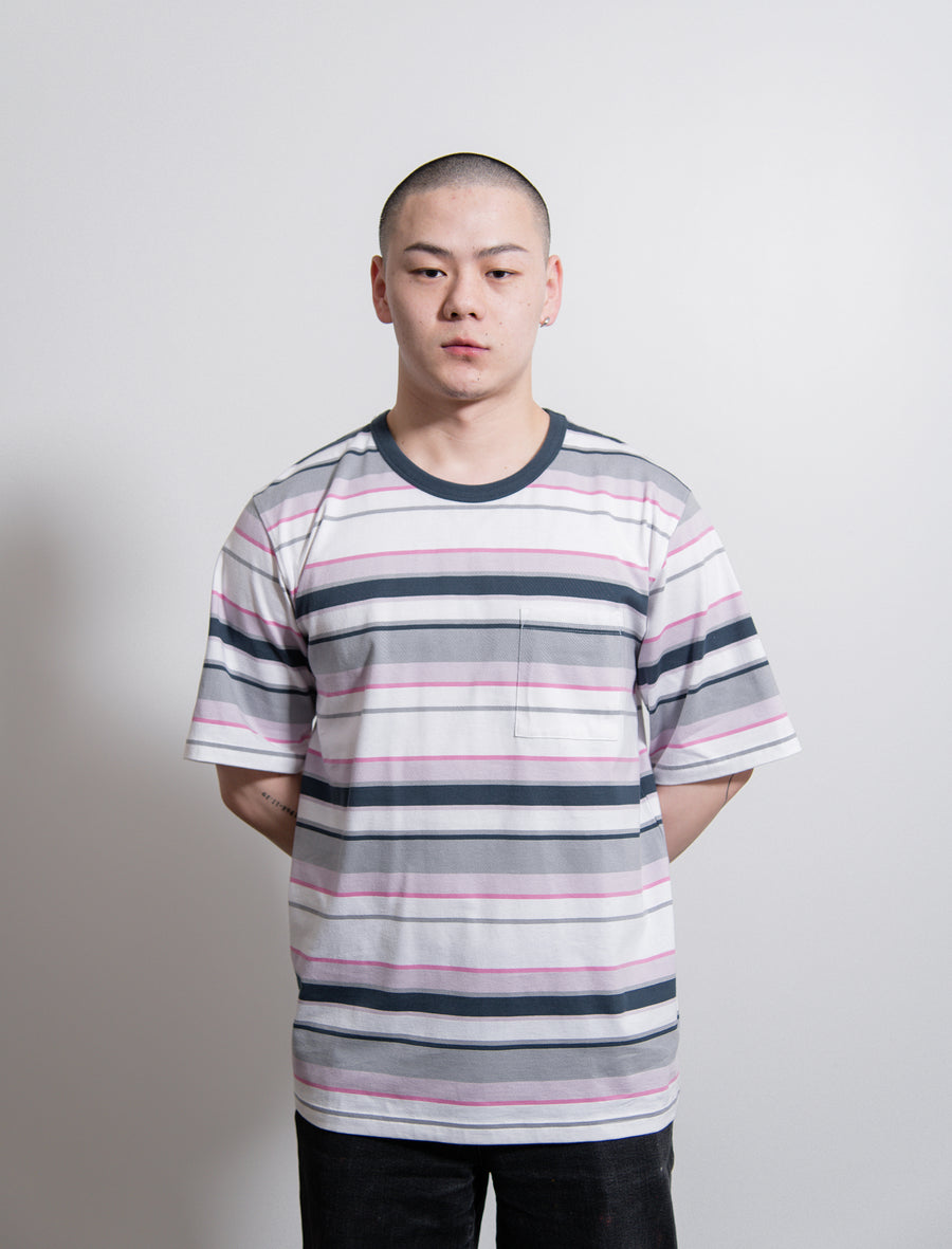 Volume Stripe Tee Purple