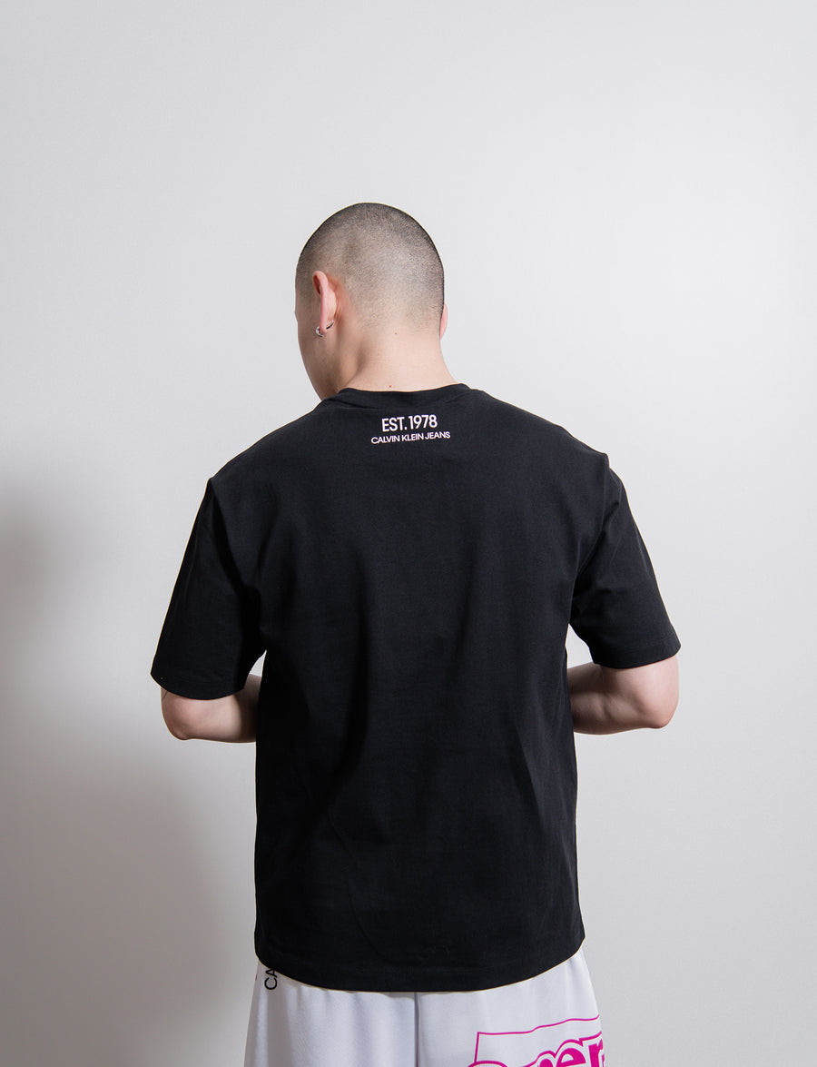 S/S Icon Embroidery Tee Black