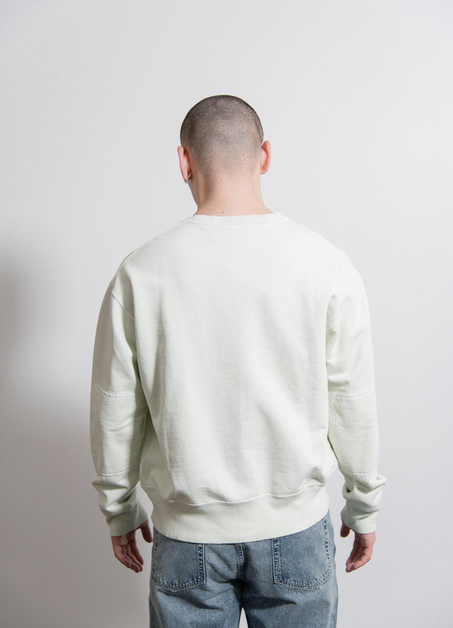 Patch Crewneck Sweater White