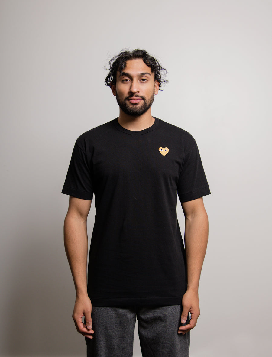 Short Sleeve Emblem Tee Black/Gold T216