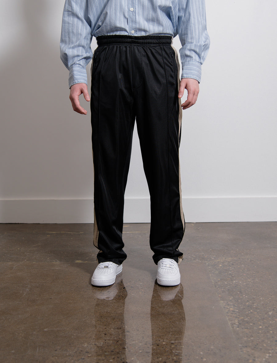 Stripe Track Pant Black