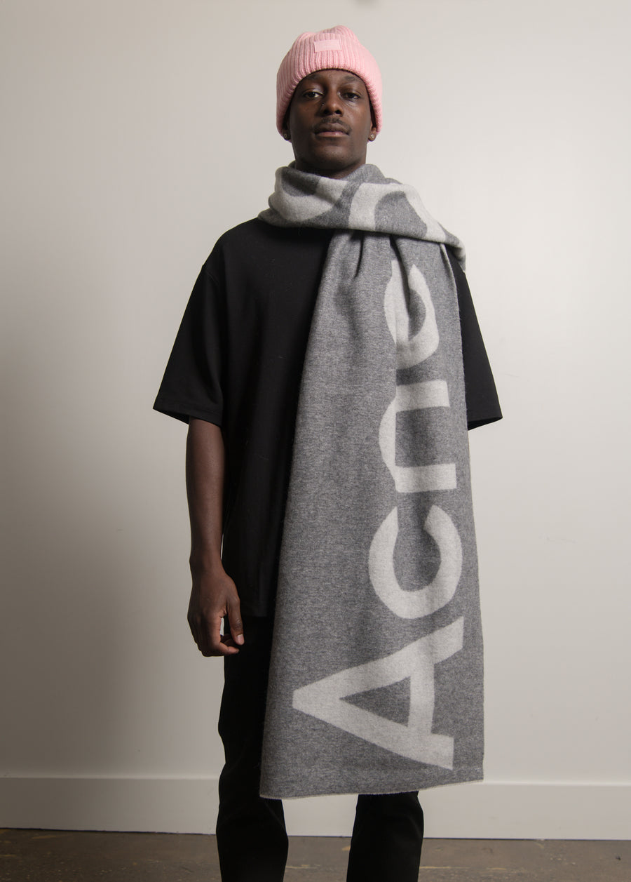 Double-Faced Wool Scarf Grey SCAR000125