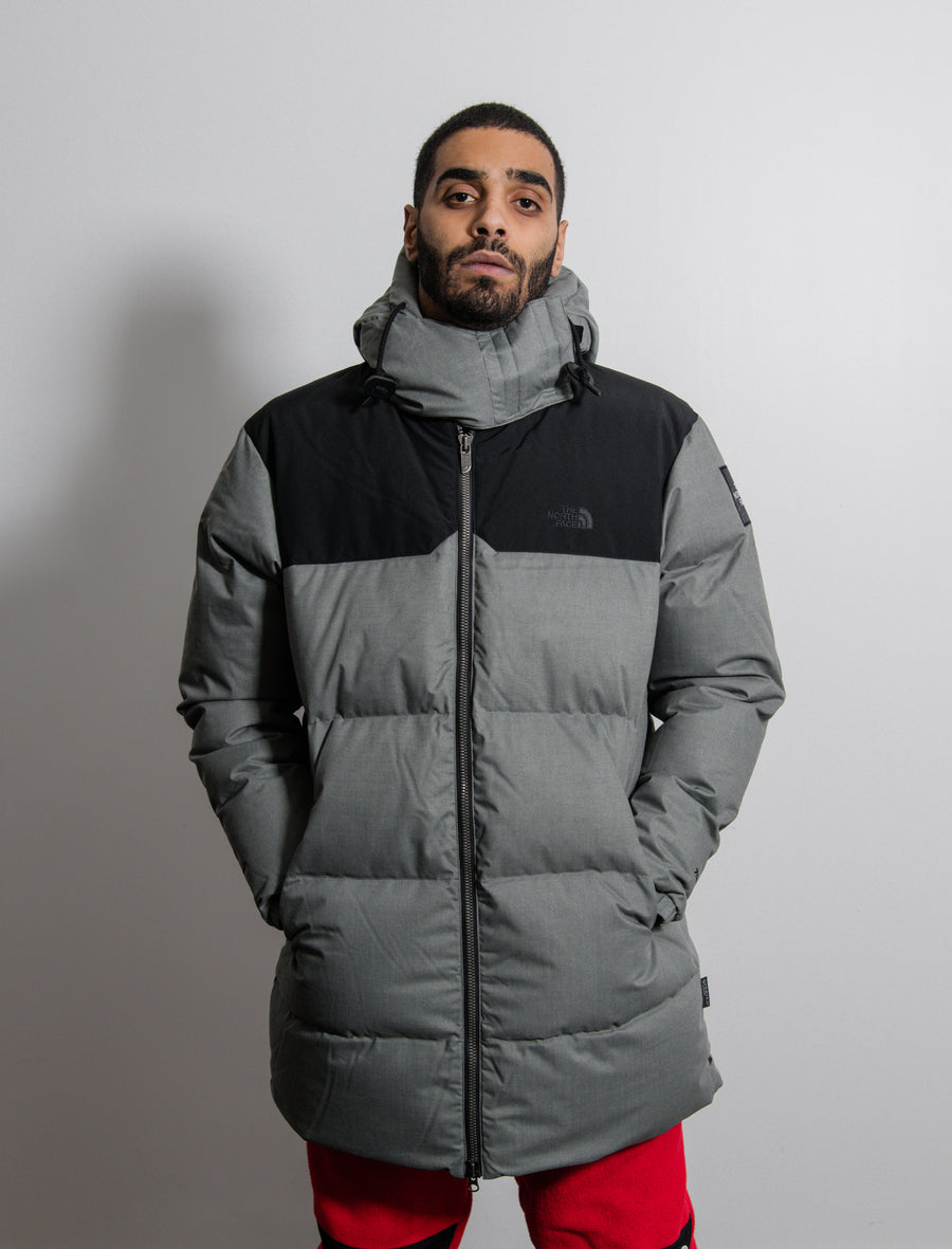 Down Filled Wool Nuptse Coat Asphalt/Grey Heather