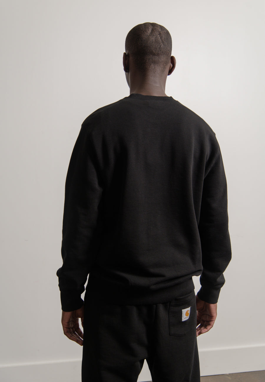 Pocket Crewneck Sweater Black