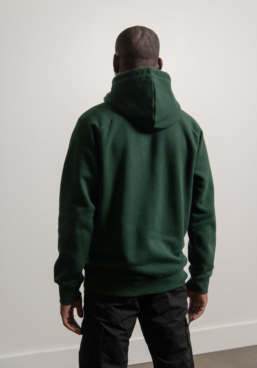 Chase Hoodie Bottle Green/Gold