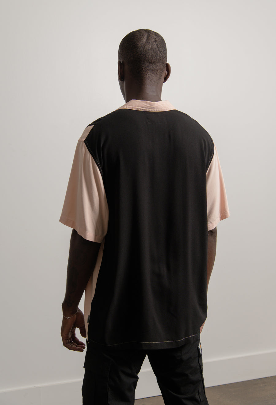 Short Sleeve Lane Shirt Powder/Black