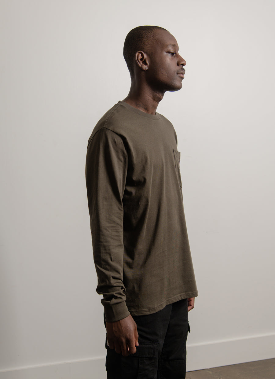 Long Sleeve Pocket Tee Cypress