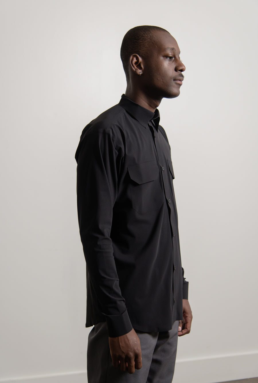 Ultrasound Pocket Shirt Black