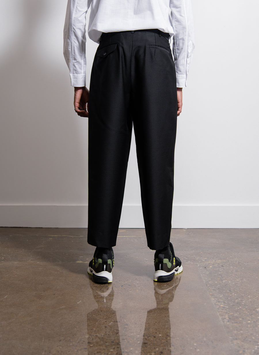 Mohair Pleated Pant Black