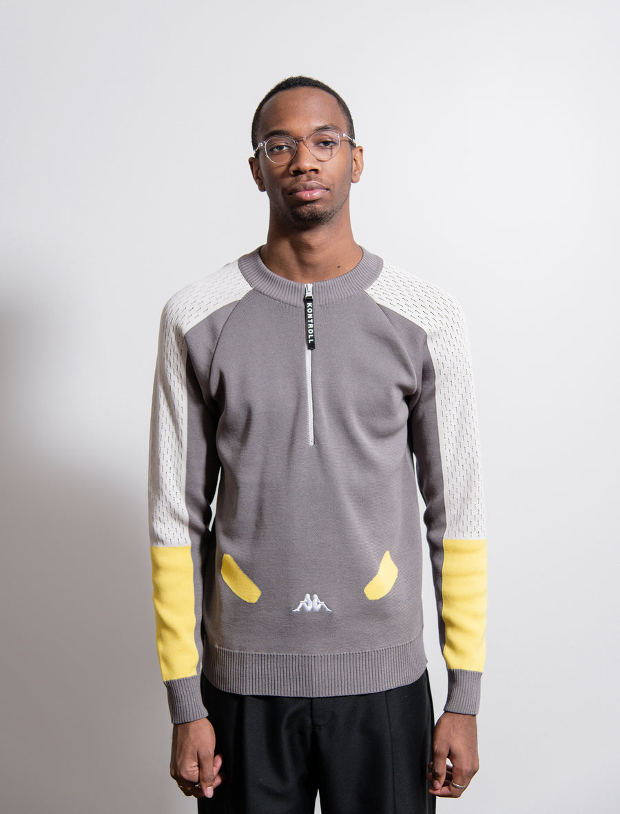 Omini Knit Sweater Grey/Silver/Yellow