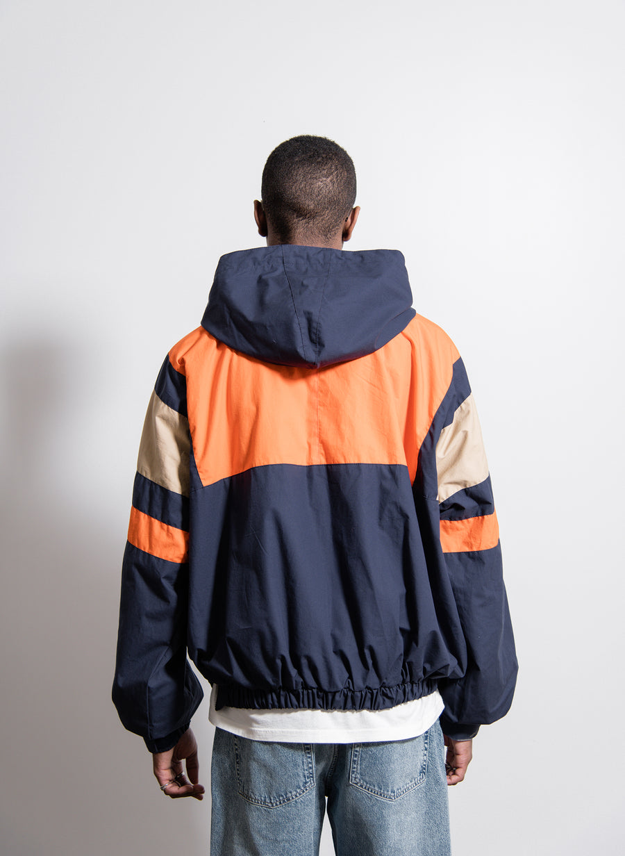 Huez Anorak Jacket Blue/Orange/Natural